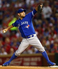 Marco Estrada, TOR//Game 3 ALDS at TEX, Oct 11, 2015