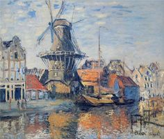 Le Moulin de l´Onbekende Gracht, Amsterdam (The Windmill on the Onbekende Canal, Amsterdam)  -Monet