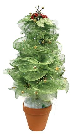 Geo Mesh Christmas Tree - This fabulous tree would be the perfect addition to your table scape. Geo Mesh is a unique material that we sell at Crafts Direct that comes in a variety of colors. It also works great for wreaths and bows. Get the instructions here to create your own tree.