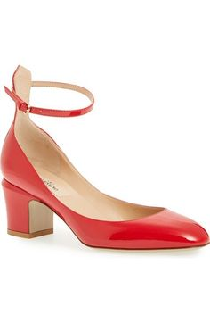 A GIRL CAN DREAS(:  Valentino 'Tango' Ankle Strap Pump (Women) available at #Nordstrom