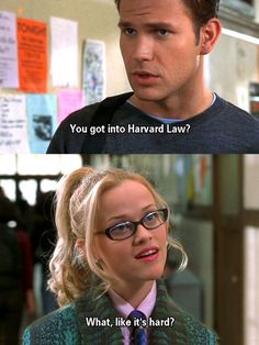 She worked hard and got what she wanted though nobody thought she could. We can get what we want if we work hard enough! So keep Elle Woods in mind while studying :D Iconic Movies, Great Movies, 90s Movies, Legally Blonde Quotes, Legally Blonde Characters, Stranger Things, Favorite Movie Quotes, Movie Lines, Female Stars