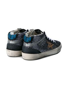 Golden Goose Deluxe Brand 'Mid Star' Leather & Glitter Sneakers
