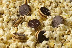 Caramel Popcorn Sandwiches with Dark Chocolate at Eleven Madison Park