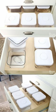 Organization: Creative Kitchen Storage Ideas For Consumables. Love this in my kitchen. Easy to add to kitchen drawers! Design Dazzle