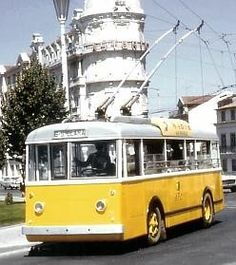 trolley bus (1947), Coimbra, Portugal Coimbra Portugal, Bus Coach, Compressed Air, Transportation, Europe, Busse, History, City, Choices