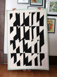 Abstract Crib Quilt DIY on Smile and Wave