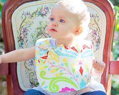 Baby girl bib / bow bib / kumari garden