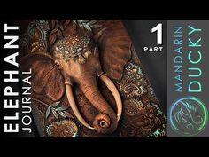 ELEPHANT JOURNAL TUTORIAL Part 1 - polymer clay by Mandarin Duck - YouTube