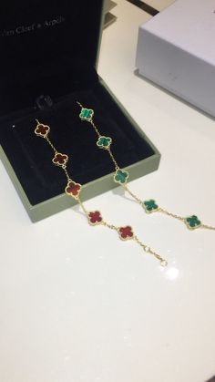 Vca woman jewelry green & red bracelet