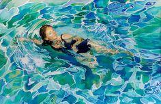 swimmer painting - Recherche Google