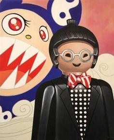 Los playmobil se pasan al arte | OLDSKULL