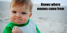Gotta love the memes! Here's where this 'success kid' pic and other Internet memes originally came from