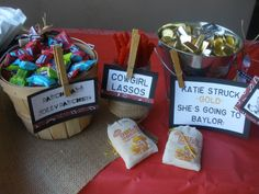 Sweet saloon candy bar - western BBQ party