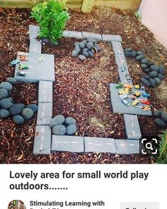59 Best Ideas for diy outdoor kids play area race tracks Diy Hanging Planter, Diy Planters, Mobiles, Room Ideias, Eyfs Outdoor Area, Outdoor Play, Small World Play, Cement Crafts, Kids Play Area