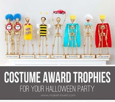 Part of the fun of having a costume contest is awarding prizes to the winners. If you're looking for unique treats for your best-dressed guests, you can't go wrong with these custom awa…