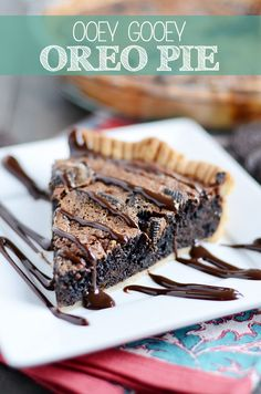 Gooey Oreo Pie - This pie is intensely chocolatey and jam-packed with Oreos. It's the gooiest thing you'll ever eat and perfectly decadent for holiday entertaining. #holiday #baking