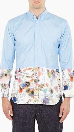 january 2017 6 comme des garcons shirt cotton poplin shirt with print lower detail Poplin, Contrast, January, Men Shirt, France, Mens Fashion, Shirt Dress, Detail, Fit
