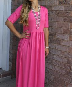 Flattering and oh so comfy this will become your most favorite maxi dress ever!! Dress it up with heels or down with a pair of wedges or flip flops.