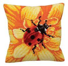 Cross Stitch Cushion Front Kit - Gerbera