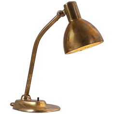 Rare Marianne Brandt Bauhaus Table Lamp in Full Brass, 1930's
