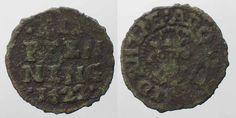1622 Mecklenburg-Schwerin MECKLENBURG-SCHWERIN 3 Pfennig 1622 ADOLF FRIEDRICH I copper VF # 90314 ss