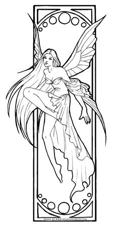 Beautiful fairy colouring pages - want to colour this with my copics