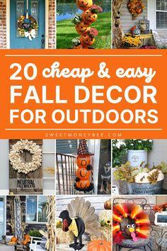 Halloween Home Decor, Diy Halloween Decorations, Thanksgiving Decorations, Fall Halloween, Seasonal Decor, Thanksgiving Ideas, Fall Crafts, Decor Crafts, Holiday Crafts