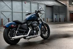 What home should be without a Harley. I know most of my friends prefer the big cruiser, but I'm into the Sporster. This one is called the Iron 883, and it has the simplicity and style that I want. OR ... maybe I would like one of the new Triumphs.