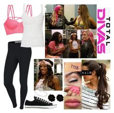 Total Divas: Who's Ready For Mexico? by samantha-vance on Polyvore featuring Zara, NIKE, Victoria's Secret PINK, Converse, Fornash, Allurez, Essie and Episode