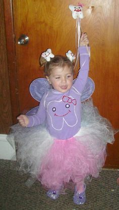 tooth fairy costume inspiration - scrap felt, tulle, and dollar store wings