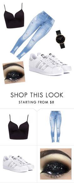 """""""41"""" by cesarioludmi ❤ liked on Polyvore featuring adidas Originals and CLUSE"""