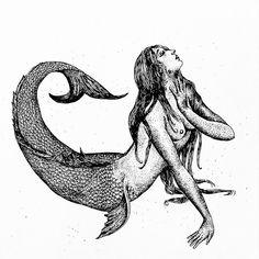 vintage mermaid engraving - Yahoo Image Search ResultsYou can find Vintage mermaid and more on our website. Vintage Mermaid Tattoo, Mermaid Tattoos, Mermaid Art, Tattoo Vintage, Gravure Illustration, Mermaid Illustration, Illustration Art, Mermaid Drawings, Art Drawings