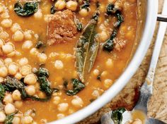 Chickpea Stew with Spinach and Chorizo | Food & Wine goes way beyond mere eating and drinking. We're on a mission to find the most exciting places, new experiences, emerging trends and sensations.