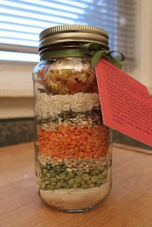Friendship soup in a jar - Great idea for fund-raiser or #LottieMoon Christmas Offering. http://www.piebirds.org/2011/12/friendship-soup-mix-in-jar.html