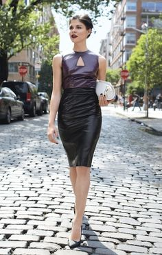 Ladylike leather is one fall trend you must try! Make a statement like Emily Weiss (and check out our September issue for more ideas!)