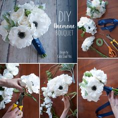 Stressed out about your wedding flowers? Make your own with this simple DIY and gorgeous faux flowers from afloral.com!  Design by Kate Said Yes