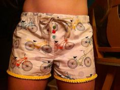 Homemade bicycle pajama shorts!! DIY in one day