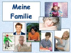 Meine Familie A1 Power Points, Teaching Materials, Kids Learning, Germany, Polaroid Film, Baseball Cards, Learn German, Learning Methods, German Language Learning