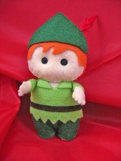 Peter Pan felt doll