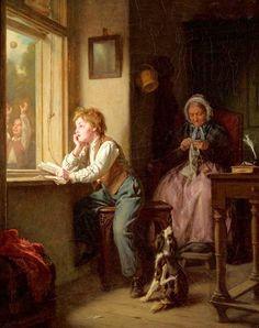 """The Punishment"". Leopold Löffler (1827-1898), Polish painter. #castig"