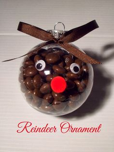cute reindeer candy ornament