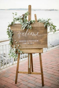 Wooden Wedding Welcome Sign with Names and Date Rustic Wedding Welcome Signage Wood Wedding Welcome Signs Wedding Decor - Rustic Wedding Signs, Wedding Welcome Signs, Wedding Signage, Rustic Signs, Wedding Reception Signs, Natural Wedding Decor, Welcome Party, Wedding Entrance Table, Bohemian Wedding Reception