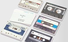 Check out MOO's mix-tape inspired, cool business cards that speak to anyone born before and appeal to who ever painstakingly created the perfect tape. Cool Business Cards, Mixtape, Make It Yourself, Templates, Cool Stuff, Design, Models, Cool Things, Stenciling