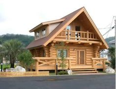 Beautiful simple wood house and log house design modern prefab homes, house prices, small Small Log Cabin, Log Cabin Homes, Log Cabin Kits, Cabin Plans, Style At Home, Residential Log Cabins, Wood House Design, Simple House Design, Bamboo House