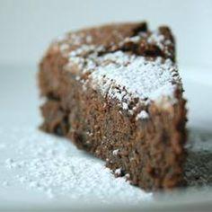 Pastel de chocolate con garbanzos (sin gluten)