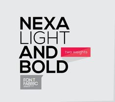 Free Fonts for Download!  NEXA is a new free sans serif font by the Fontfabric type foundry. A modern and clean designed typeface. Especially the ligatures are looking great. The font comes in two styles (light and bold) and is available for free download here.  via: WE AND THE COLORFacebook // Twitter // Google+ // Pinterest