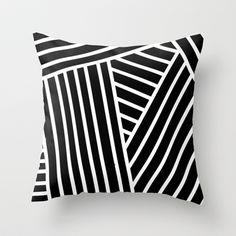 Opical Stripes 2 Throw Pillow by daniellebourland - $20.00