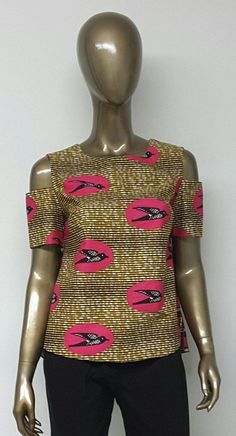 Top imprimé africain. Top dAnkara. Vêtements à la main.