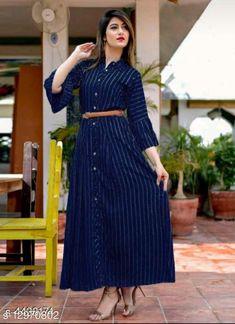 Kurtis & Kurtas Charvi Designer Women Gowns Fabric: Synthetic Crepe Sleeve Length: Three-Quarter Sleeves Pattern: Printed Multipack: 1 Sizes:  S (Bust Size: 36 in, Length Size: 52 in)  XL (Bust Size: 42 in, Length Size: 52 in)  L (Bust Size: 40 in, Length Size: 52 in)  M (Bust Size: 38 in, Length Size: 52 in)  XXL (Bust Size: 44 in, Length Size: 52 in)  XXXL (Bust Size: 46 in, Length Size: 52 in)  Country of Origin: India Sizes Available: S, M, L, XL, XXL, XXXL   Catalog Rating: ★4 (431)  Catalog Name: Aradhya Designer Women Gowns CatalogID_2524058 C74-SC1001 Code: 915-12970802-