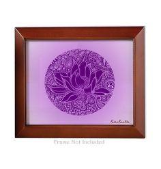 27080ea8 Meditation Series Crown Chakra Violet Lotus - Unframed 8x10 Art Print  Meditation Room Yoga Studio Birthday
